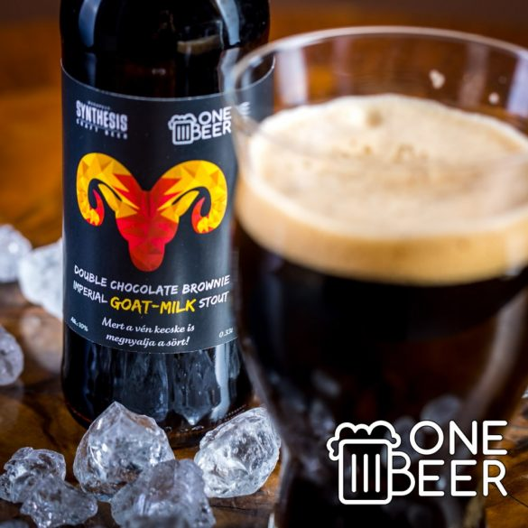 Synthesis & One Beer Double Chocolate Brownie Imperial GOAT-MILK Stout 0,33l
