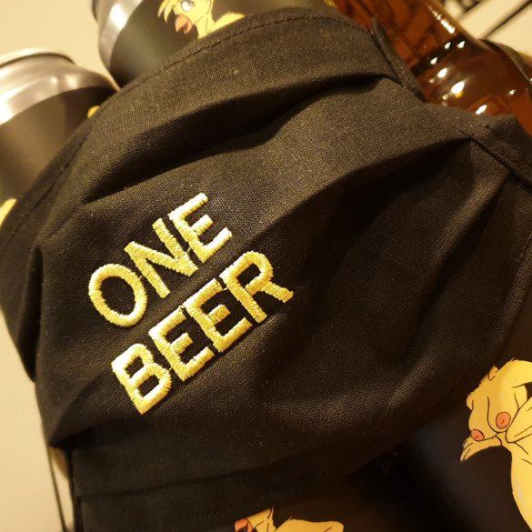 One Beer Kézműves Szájmaszk